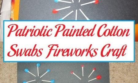 Patriotic Painted Cotton Swabs Fireworks Craft