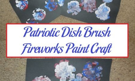 Patriotic Dish Brush Fireworks Paint Craft