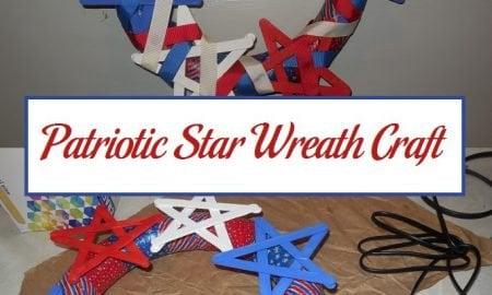 Patriotic Star Wreath Craft