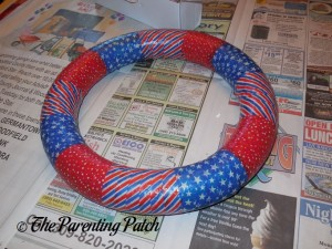 Foam Wreath Wrapped with Patriotic Washi Tape