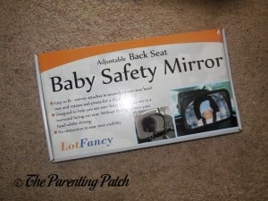 LotFancy Adjustable Back Seat Baby Safety Mirror Box