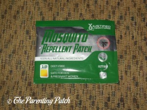Front of Justified Laboratories Mosquito Repellent Patch Package