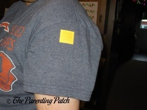 Justified Laboratories Mosquito Repellent Patch on Sleeve