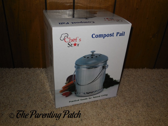 Front of Chefu0027s Star Stainless Steel Compost Bin Box