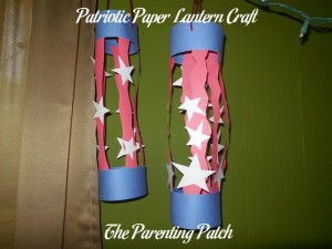 Finished Patriotic Paper Lantern Crafts