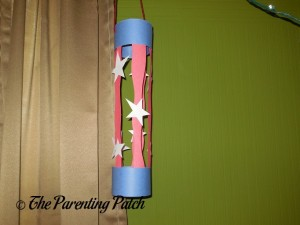 Finished Patriotic Paper Lantern Craft