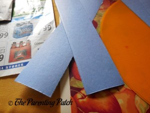 Cutting the Blue Paper into Wide Panels