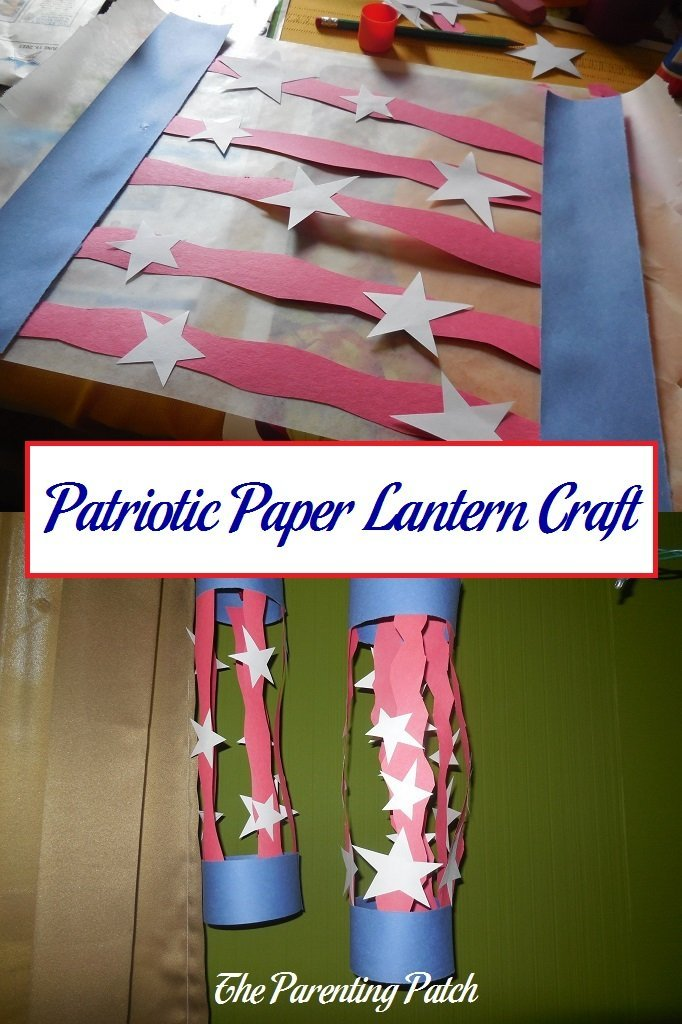 Patriotic paper lantern craft parenting patch for Americana crafts to make