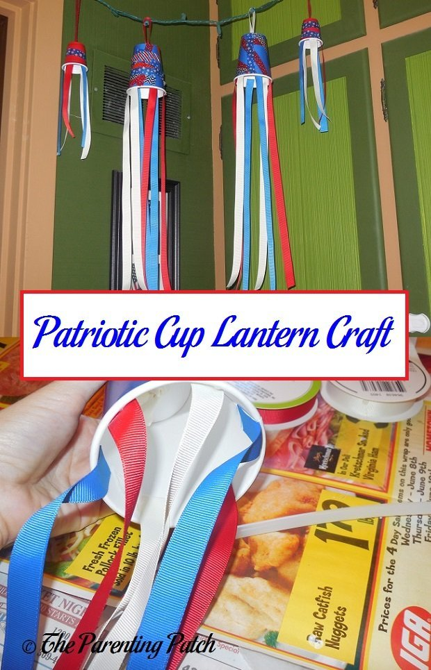 Patriotic Cup Lantern Craft