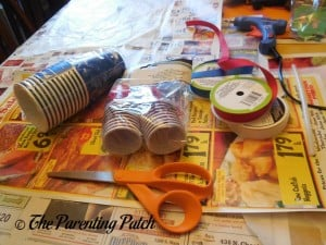Supplies for Patriotic Cup Lantern Craft