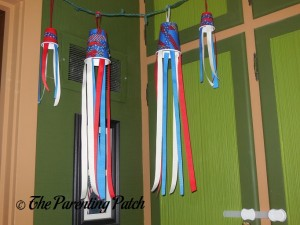 Finished Patriotic Cup Lantern Craft