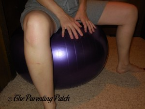 Heather on the iTECHOR Anti-Burst Balance Stability Fitness Ball