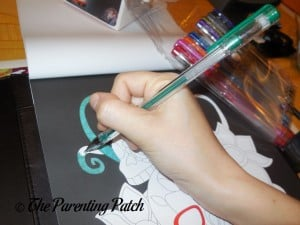 Coloring a Page in Life in Coloring Men's Coloring Book Kit 2