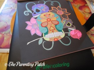 Colored Page in Life in Coloring Men's Coloring Book Kit 2
