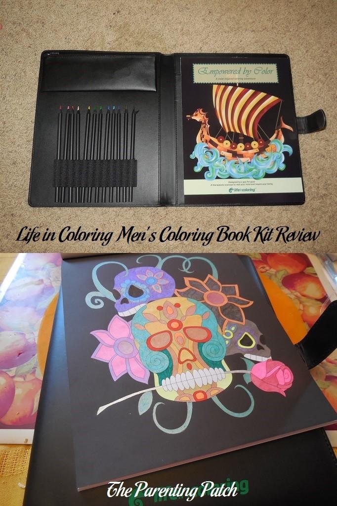Life in Coloring Men's Coloring Book Kit Review