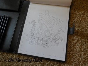 Uncolored Page in Life in Coloring Men's Coloring Book Kit 4
