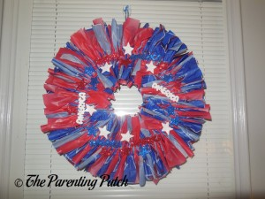 Finished Fourth of July Wreath Craft