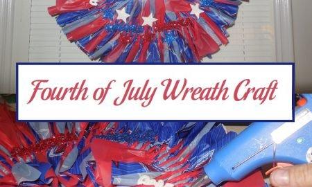 Fourth of July Wreath Craft Tutorial