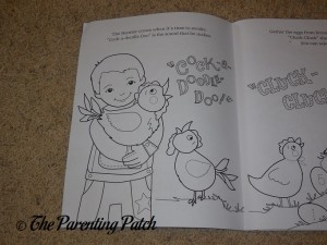 Uncolored Page of My Farm Friends Coloring Book