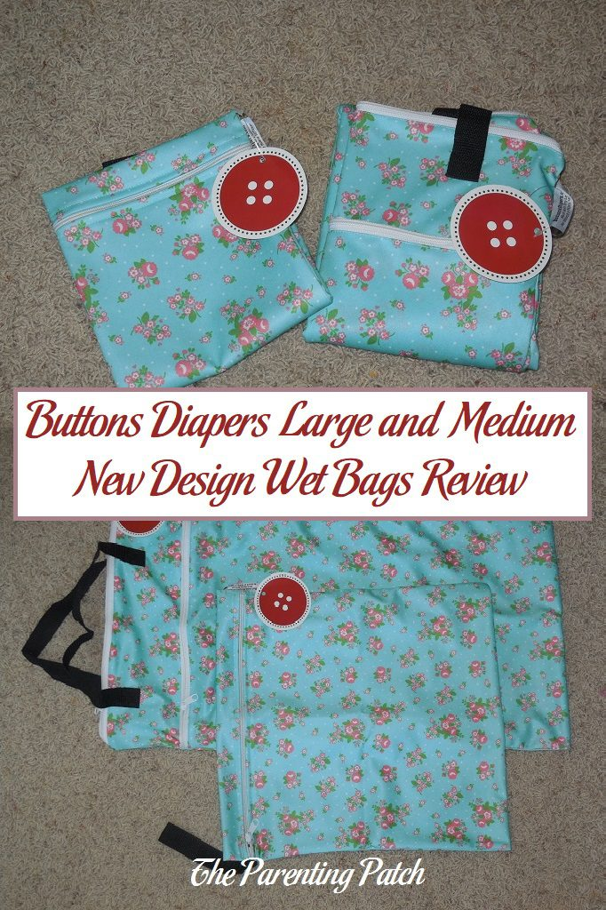 Buttons Diapers Large and Medium New Design Wet Bags Review
