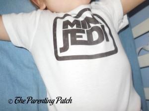 Chest of Baffle Mini Jedi Star Wars Baby Bodysuit on Toddler
