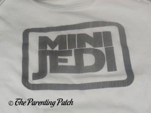 Cracked Design on Baffle Mini Jedi Star Wars Baby Bodysuit