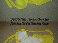 OULISI Retro Vintage One-Piece Monokini Cut-Out Swimsuit Review