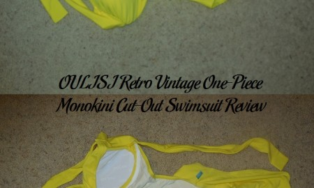 OULISI Retro Vintage One-Piece Monokini Cut-Out Swimsuit Review