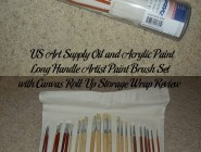 US Art Supply Oil and Acrylic Paint Long Handle Artist Paint Brush Set with Canvas Roll-Up Storage Wrap Review