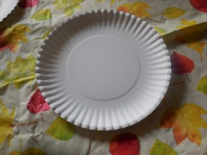 Paper Plate for A Is for Apple Paper Plate Craft