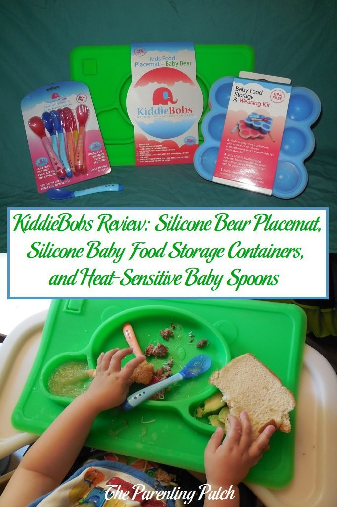 KiddieBobs Review: Silicone Bear Placemat, Silicone Baby Food Storage  Containers, And Heat Sensitive Baby Spoons