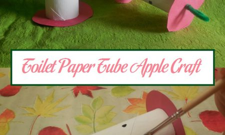 Toilet Paper Tube Apple Craft