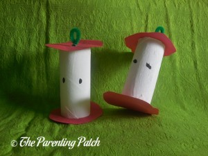 Toilet Paper Tube Apple Crafts