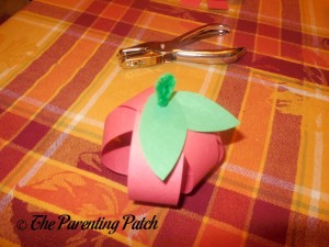 Assembling the Paper Apple Craft