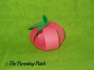 Finished Paper Apple Craft