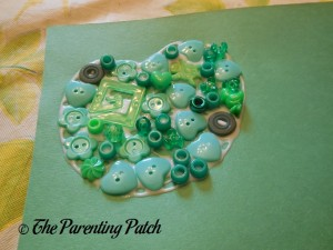 Green Buttons for Button Apples Craft