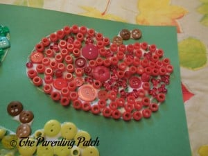 Red and Yellow Buttons for Button Apples Craft