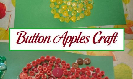 Button Apples Craft