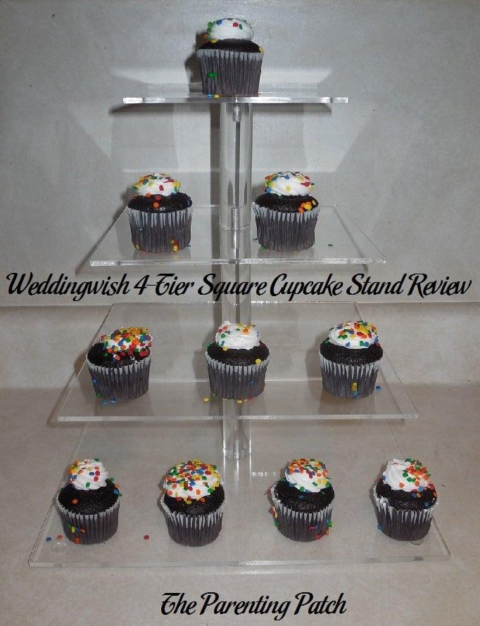 Weddingwish 4-Tier Square Cupcake Stand Review
