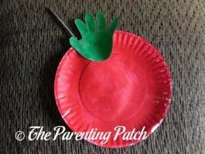 Autumn Apple Paper Plate and Handprint Craft