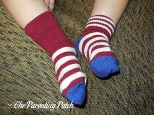 Two Styles of Lomon Boys Stripe Ankle Socks