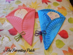 Drying B Is for Baby Paper Plate Crafts