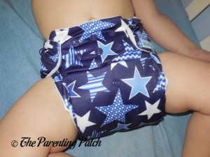 Front of Mama Koala Pocket Diaper on Toddler 1