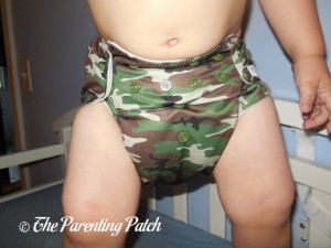 Front of Mama Koala Pocket Diaper on Toddler 2