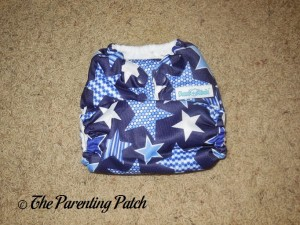 Front of Mama Koala Pocket Diaper on Smallest Setting