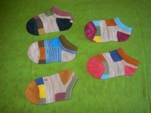 Lomon Colorful Rectangles Ankle Socks