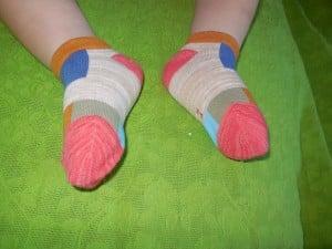 Lomon Colorful Rectangles Ankle Socks on Toddler