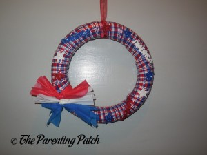 Finished Patriotic Wreath Craft