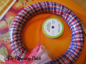 Red Ribbon for Patriotic Wreath Craft