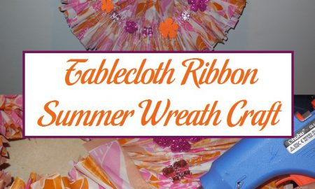Tablecloth Ribbon Summer Wreath Craft
